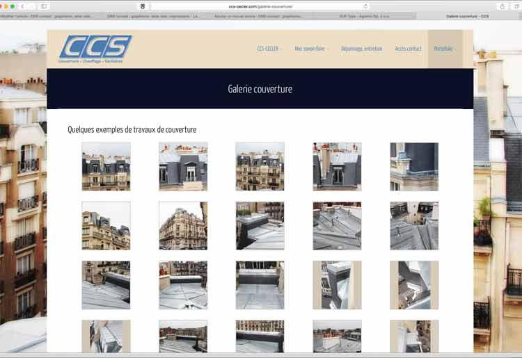 Création site internet EMS : CCS Cecler Paris 75