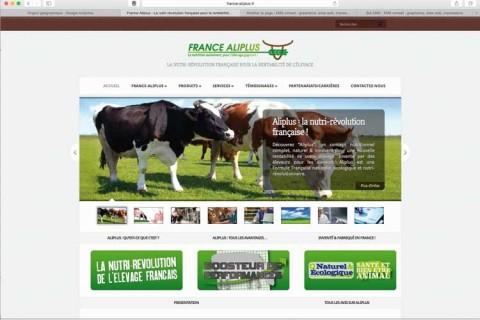 Création sites internet : Aliplus (nutrition des bovins)