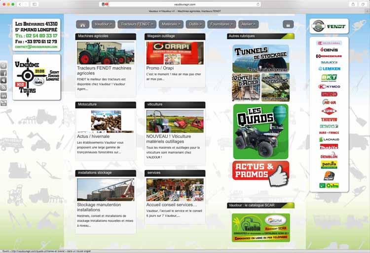 EMS, création sites internet Magasin pro Vaudour 41.