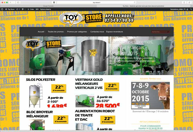 Création sites internet EMS : toy-store, en team avec René TOY (I Cintrat e-marketing)