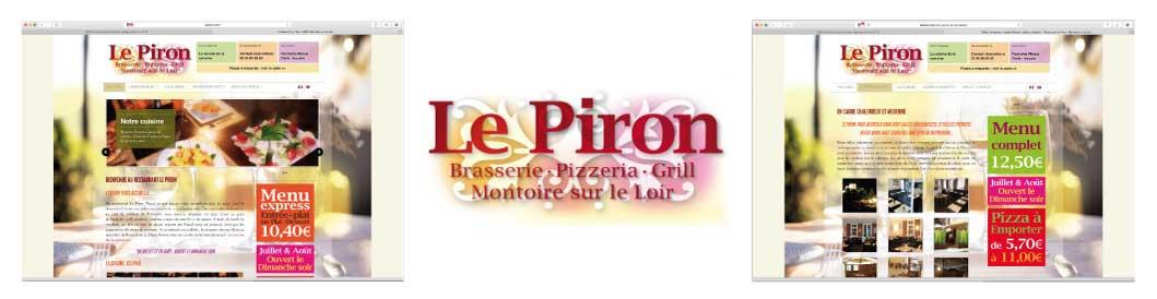 Création EMS : Le Piron, Site web, Graphisme, Cartes et menus à télécharger
