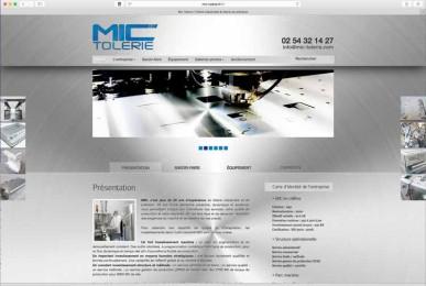 Création site internet EMS : Mic tôlerie 41. Conseil. Création du site web