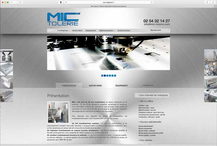 Création sites internet : MIC Tôlerie (41)