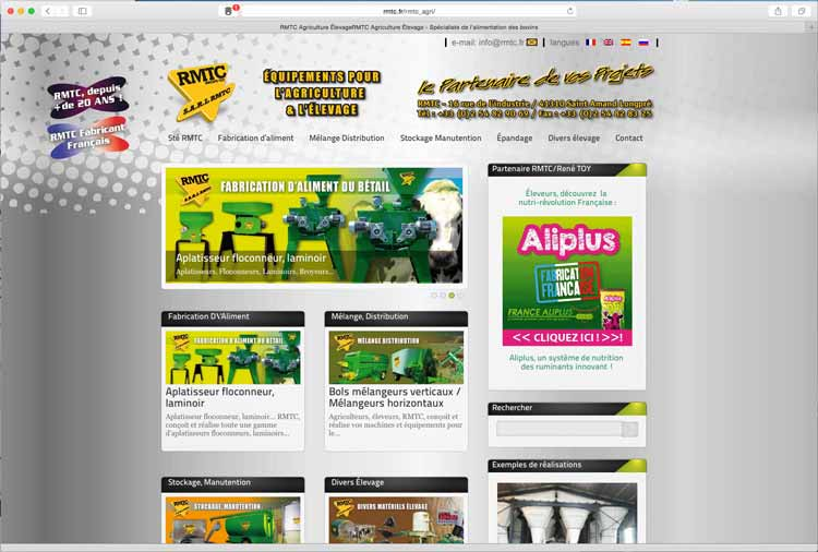 EMS conception création sites internet. RMTC 5 sites web dynamiques multilingues. Loir et Cher 41 et 75