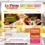 Création sites internet dynamiques EMS : Restaurant Le Piron 41800 Montoire